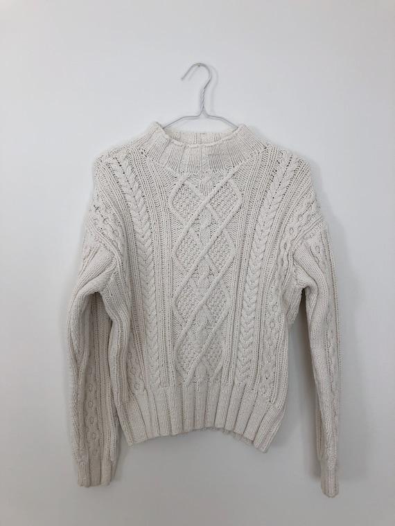 Vintage Cream Hand Knit Sweater