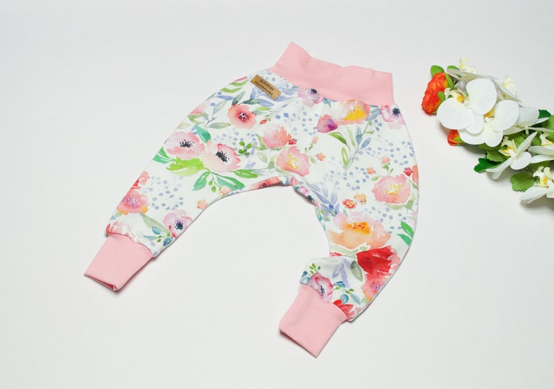 organic baby pants Baby pants flowers organic baby clothes baby pants girls