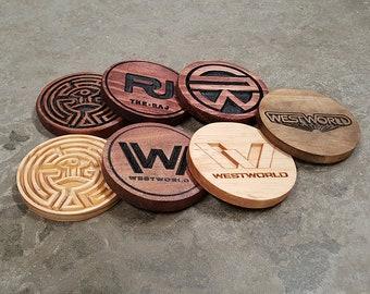 Westworld Inspired Coaster Set (4)
