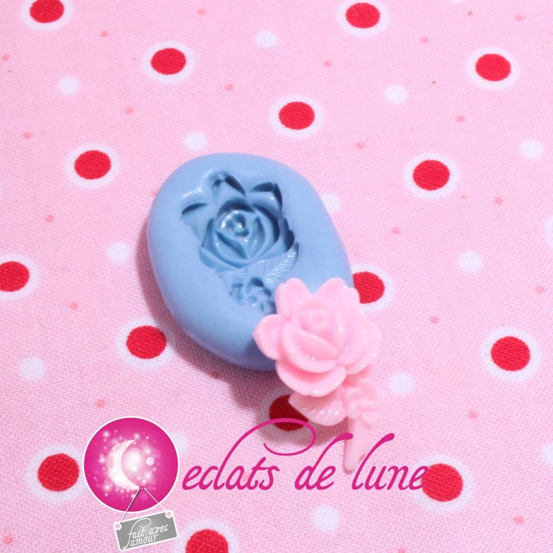 Moule silicone rose avec tige 22 14mm etsy - Rose avec tige ...