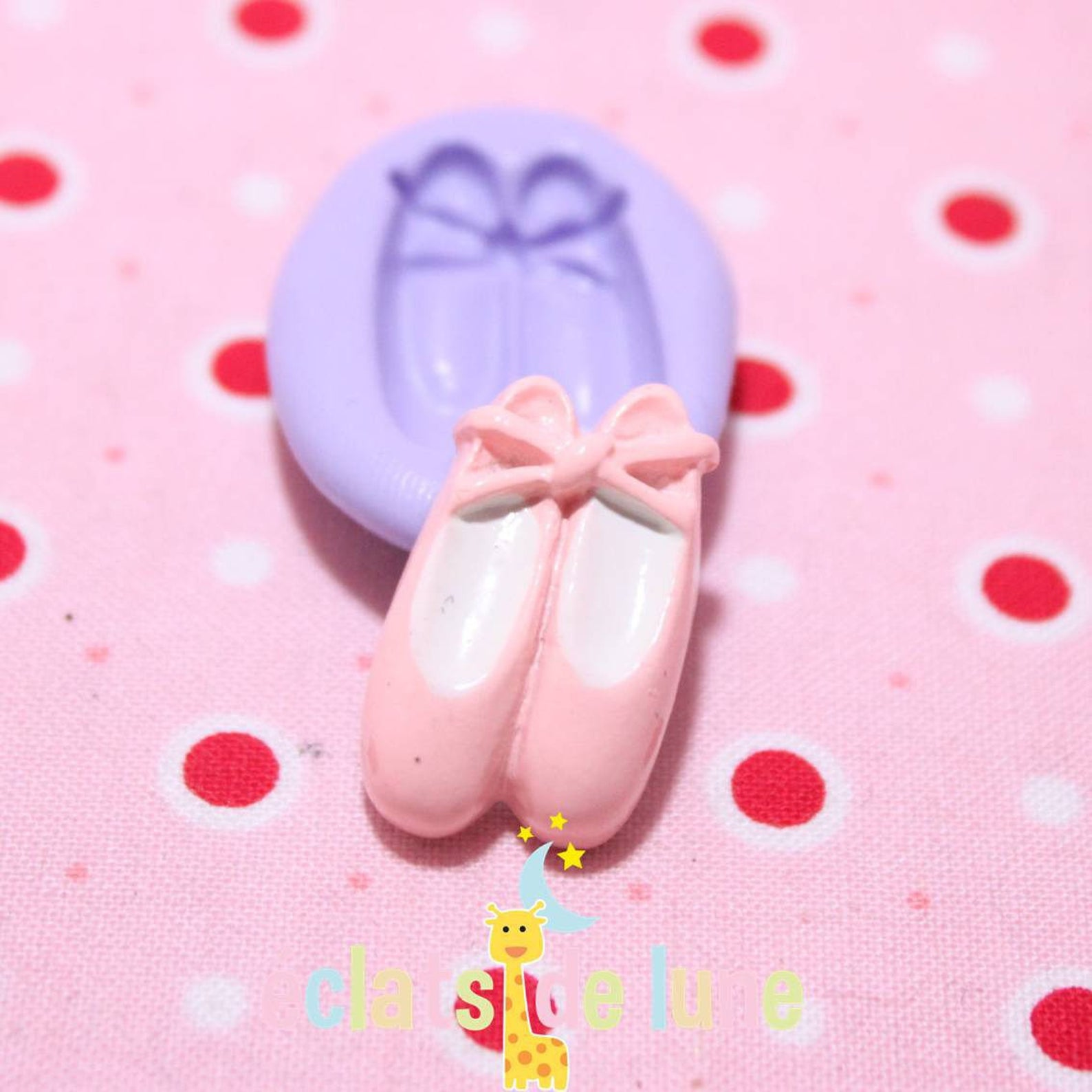 ballet shoe 24 silicone mold / 15mm
