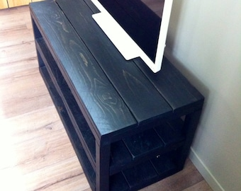 Charcoal Black wooden tv stand