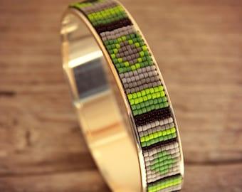 Woven Pearls Bracelet, Jonc Bracelet, Miyuki Bracelet, Miyuki Jewelry, Indian Bracelet, Silver Bracelet, Ethnic Bracelet, Boho Bracelet