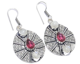 Swiss Blue Quartz Vintege Style Gifted Girlfriend Mother/'s Birthday Gift Wedding Gifted 925 Silver Jewelry Earring 2/'/' Gorgeous !!