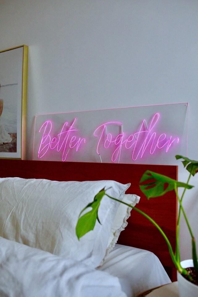BETTER TOGETHER Plexiglass Calligraphy El Wire custom neon | Etsy