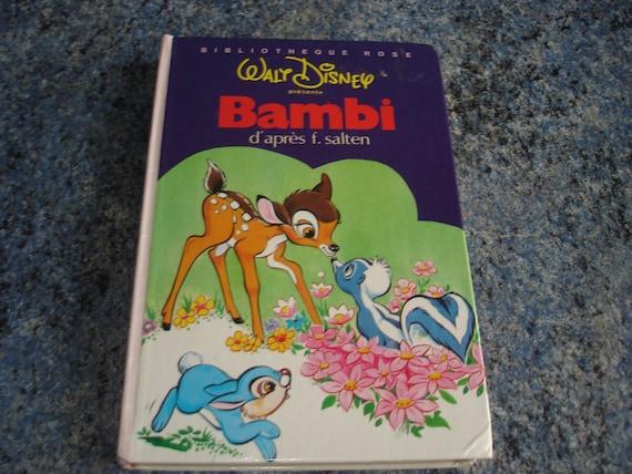 Livre Bambi Bibliotheque Rose Walt Disney