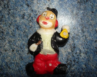 Candle of a CLOWN 6.5 cm vintage miniature