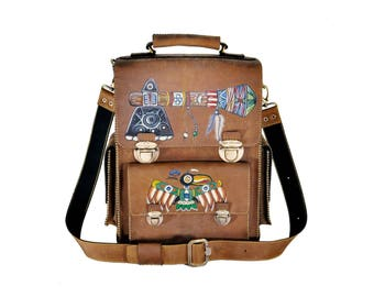 Leather Backpack Unique, Beautiful Leather Backpack, Laptop Backpack, Travel Backpack, Leather Bag