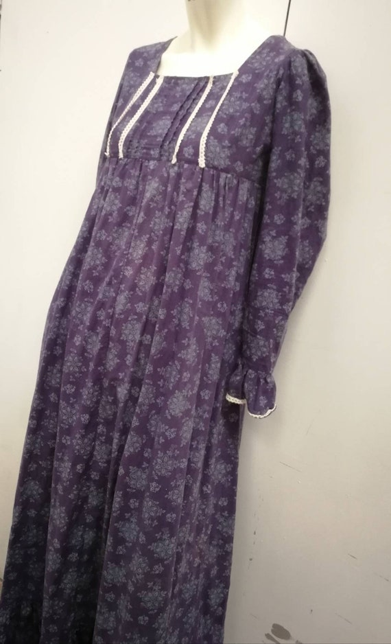 True vintage Laura Ashley 1970 prairie dress/ maxi