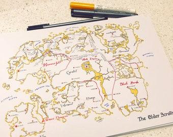 Tamriel map   Etsy