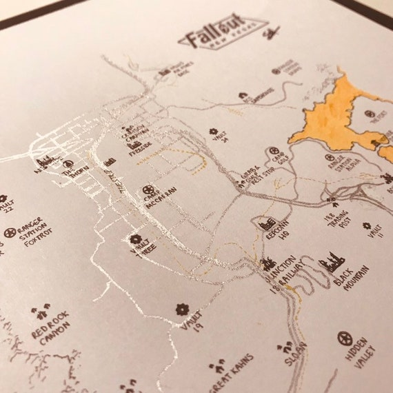 Fallout New Vegas Map Print