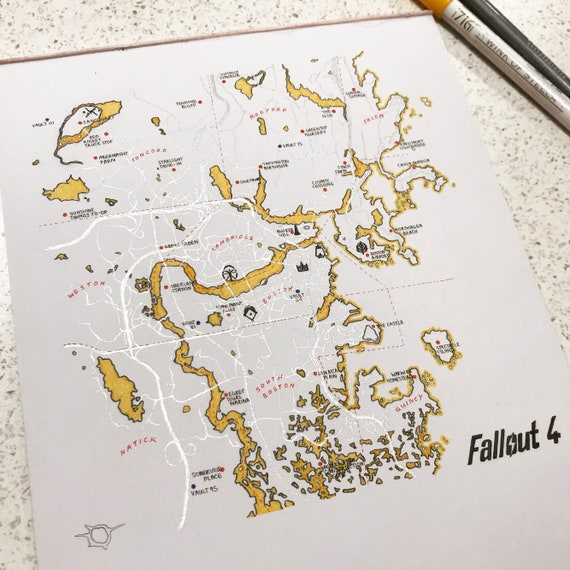 picture regarding Fallout 4 Printable Map identified as Authentic Fallout 4 Map