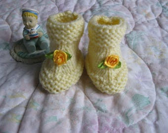 hand made baby booties