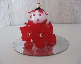 figurine doll decorative flower