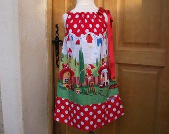 Dress Elf fairy Ribbon 2-6 years
