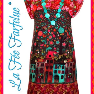 HACIENDA 34 to 50 cotton Poplin dress