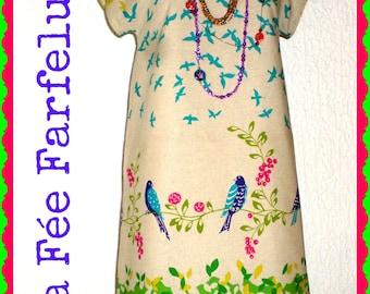 PRINTANIA 34 to 50 linen/cotton dress