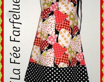 Dress STRAWBERRIES Bohemian Ribbon 2-10 years