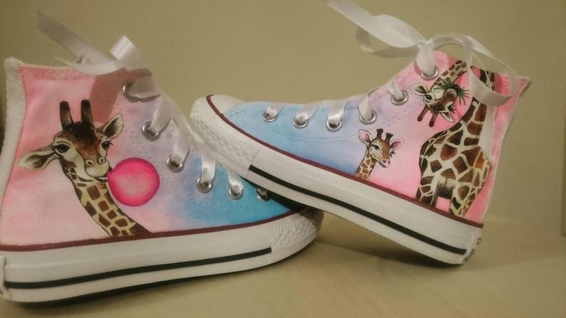 ac6c21f8df0a Fun quirky giraffe shoes Converse