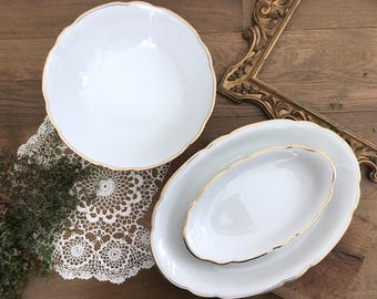 """Serving dishes set """"Lace"""""""