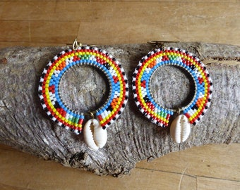 Earring creole Massai