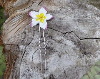 Hairpin flower woven miyuki