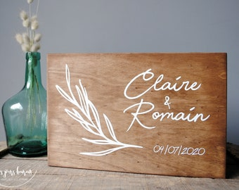 Beautiful custom wooden wedding urn for your wedding