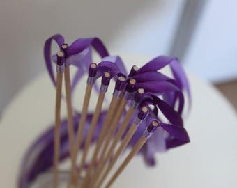 20 sticks guard of honor and Parma violet decoration wedding Ribbon wedding