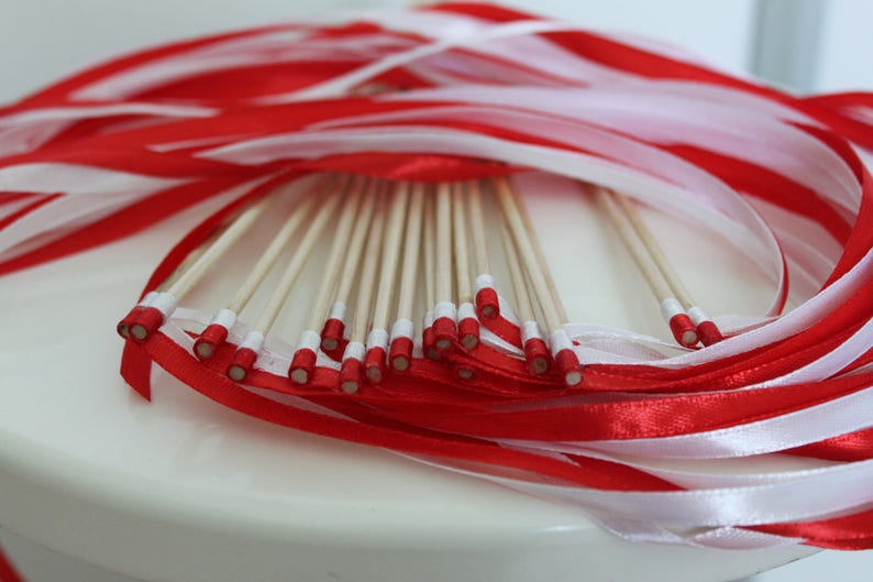 ribbons wedding decoration chopsticks ribbons guard of honor Wedding guest gifts sticks