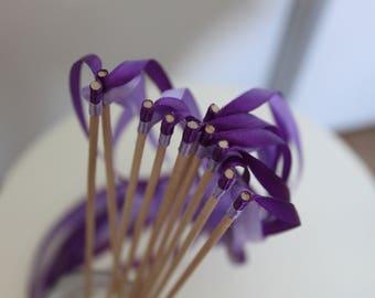 20 sticks 2 ribbons / sticks 2 ribbons and Parma violet