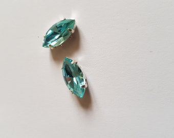 Navette 15MM blue aquamarine