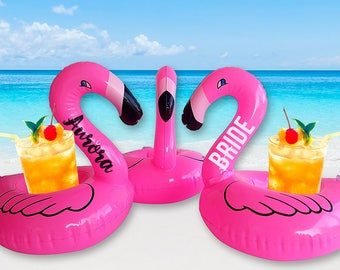 Flamingo Drink Float | Custom Pool Floats | Personalized Drink Float | Drink Holder | Inflatable Pool Float | Bachelorette Pool Party