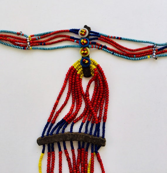 Beaded Ckoker with Buttons