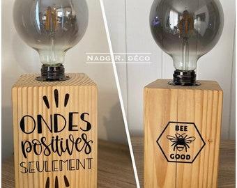 "Wood lamp ""Positive Waves"""