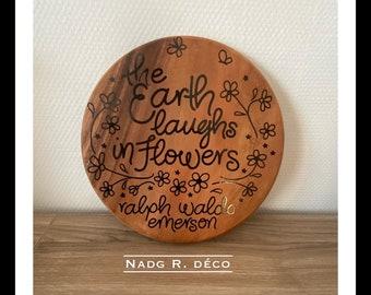 Solid wood decoration Phrases Ralf Waldo Emerson