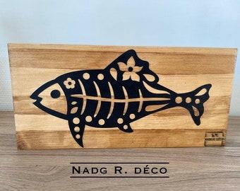 "Solid wood decoration ""fish"""