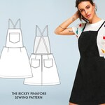 Rickey // Jumper Dress Sewing Pattern / Pinafore Sewing Pattern / Utility Jumper Sewing Pattern/ Overalls Sewing Pattern / Women's Jumper