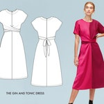 Gin and Tonic // Colorblock Dress Pattern. Easy Sewing Pattern, Beginner's Sewing Pattern / PDF Sewing Patterns For Women