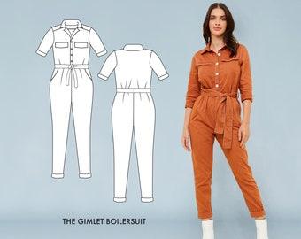 5fceb36b3c1 Gimlet Boilersuit    Utility Jumpsuit Pattern. Boilersuit Sewing Pattern.  PDF Sewing Patterns for Women