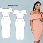 Sexy Party Dress or Casual Wedding Dress Pattern.