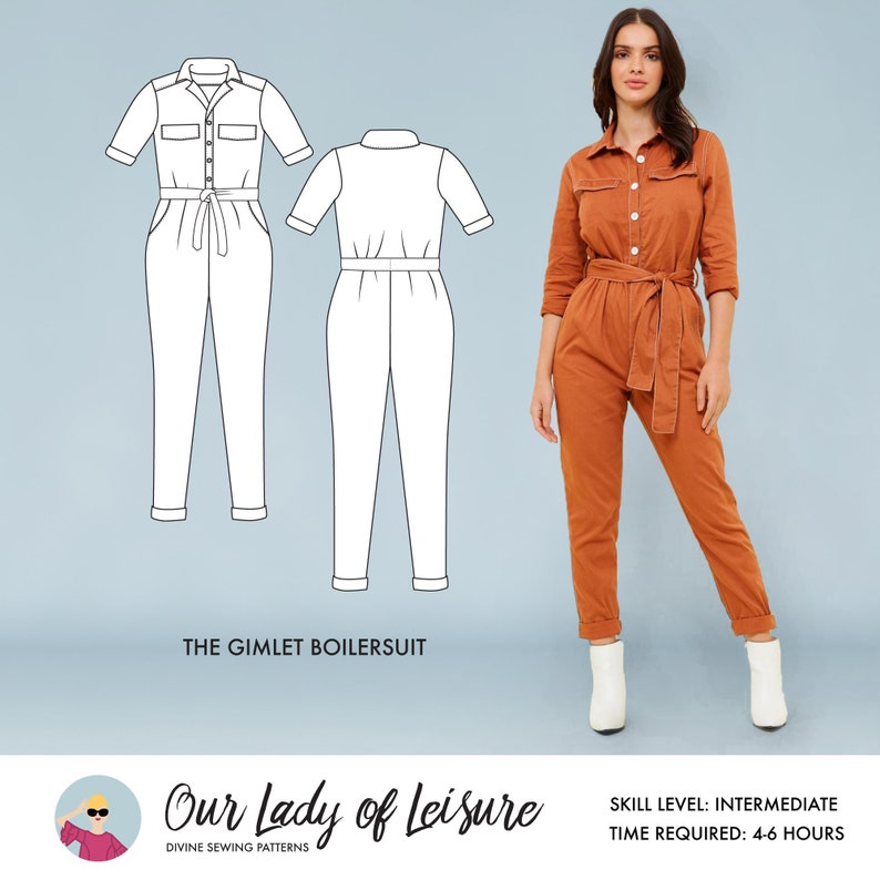 Gimlet Boilersuit // Utility Jumpsuit Pattern. Boilersuit image 0