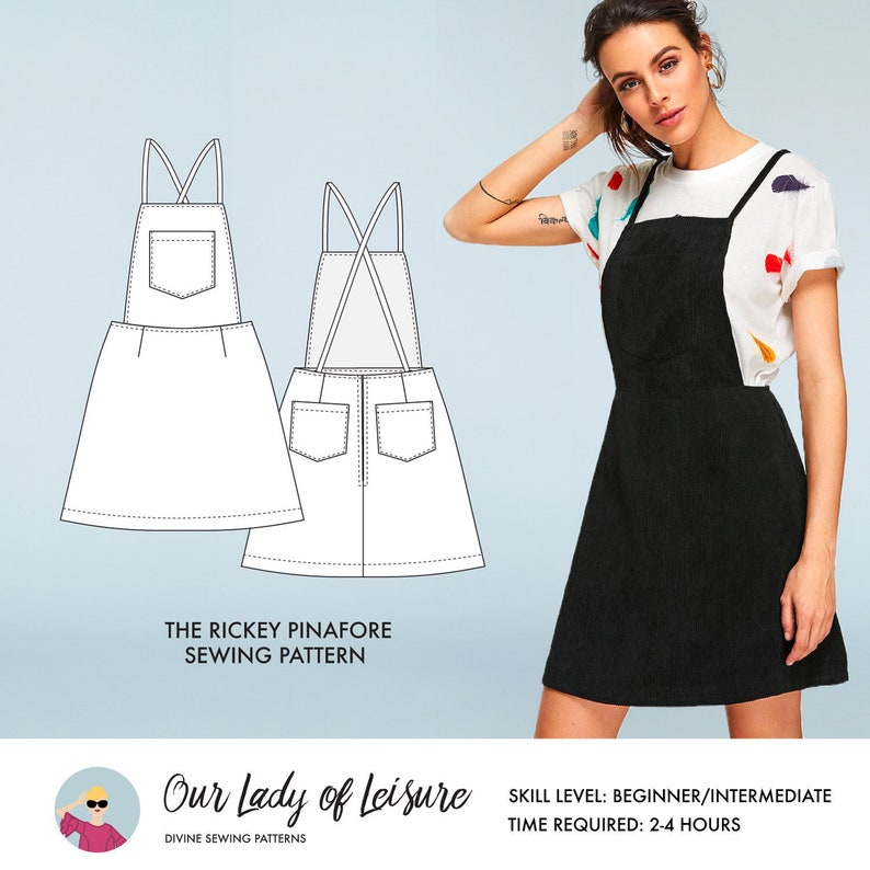 Rickey // Jumper Dress Sewing Pattern / Pinafore Sewing image 0