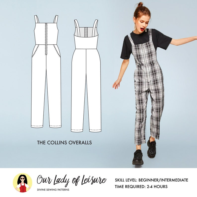 Collins Overalls Sewing Pattern / Coveralls Sewing Pattern / image 0
