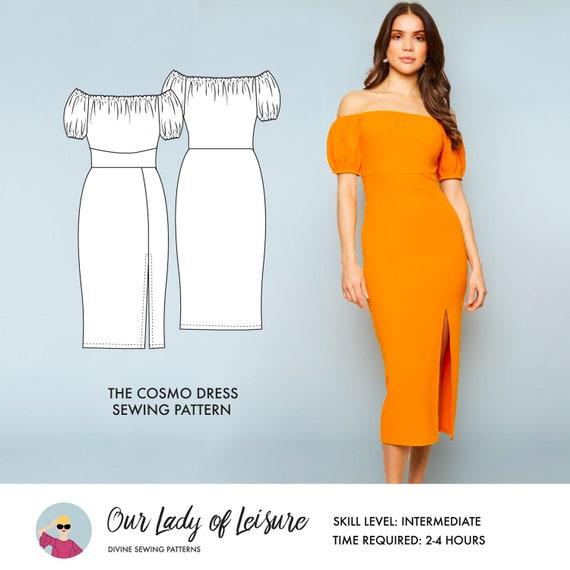 Cosmo Sexy Party Dress Or Casual Wedding Dress Pattern Knit Dress Pattern Women S Knit Sewing Pattern
