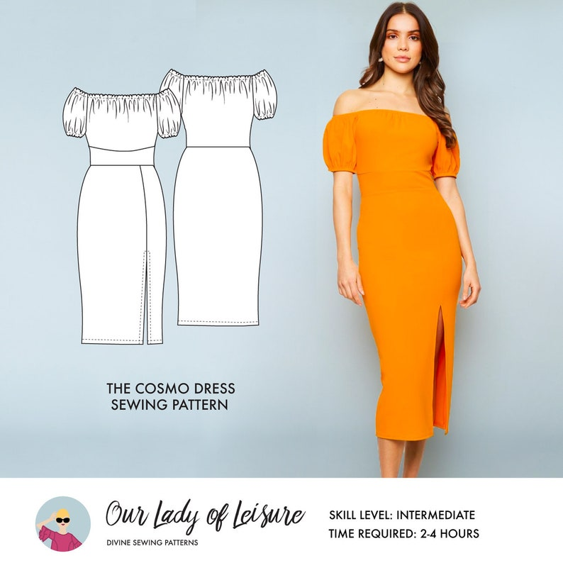 Cosmo // Sexy Party Dress or Casual Wedding Dress Pattern. image 0