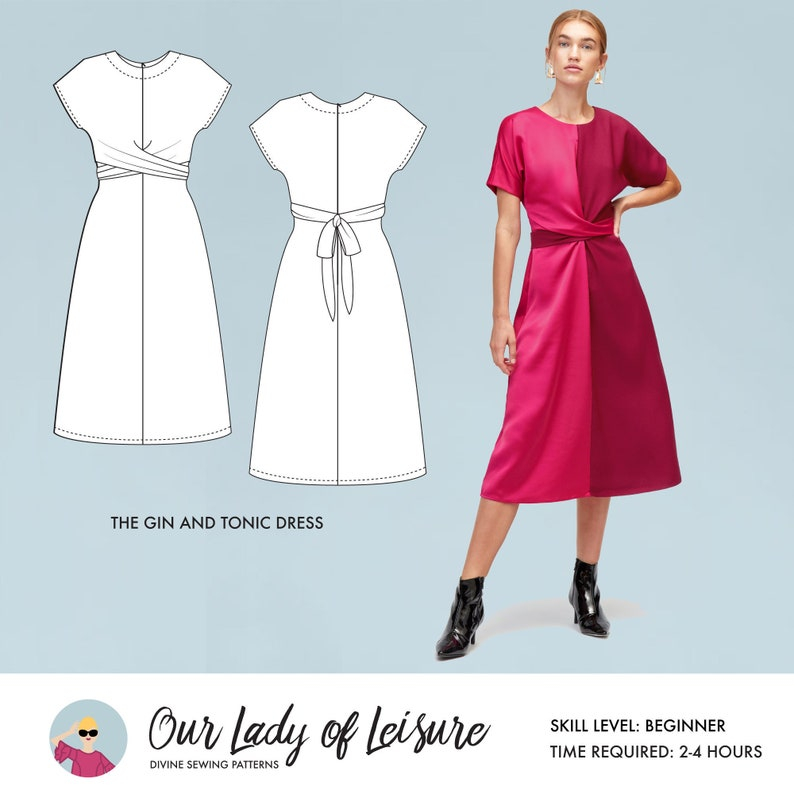 Gin and Tonic // Colorblock Dress Pattern. Easy Sewing image 0