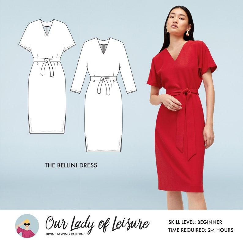 Mai Tai // Kimono Sleeve Dress Sewing Pattern. Office Dress or image 0