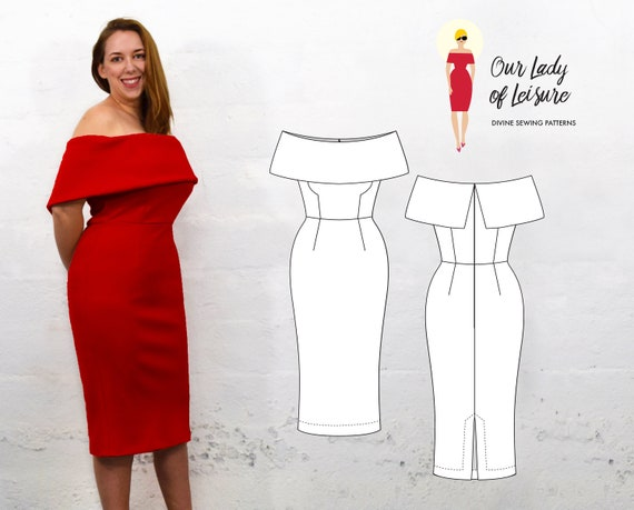 Sexy Party Dress Or Casual Wedding Dress Pattern
