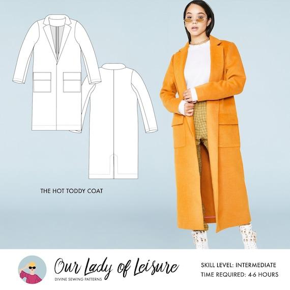 Hot Toddy Wool Coat Sewing Pattern, Ladies Winter Coat Sewing Pattern