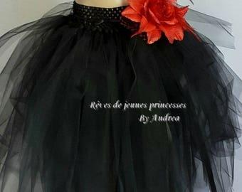 Black soft tulle tutu skirt